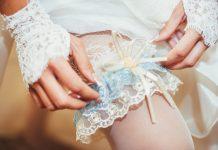 kousenband trouwjurk