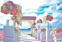 trouwen roze