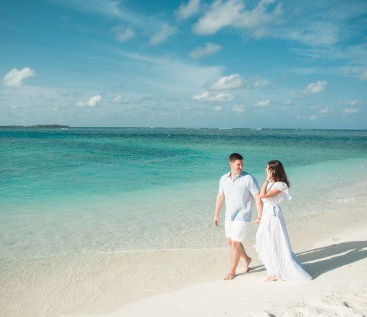huwelijksreis strand