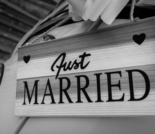 pas getrouwd bord