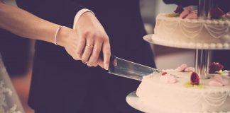 aansnijden bruidstaart