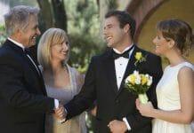Vader bij de bruiloft