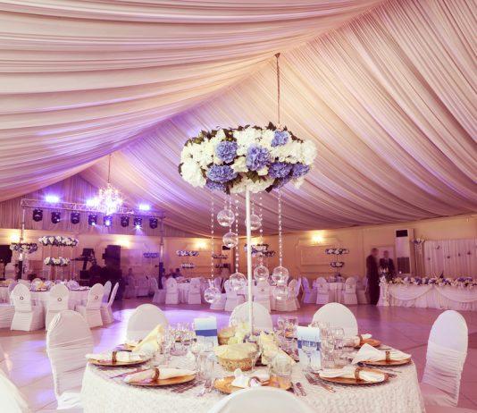 verlichting bij een bruiloft